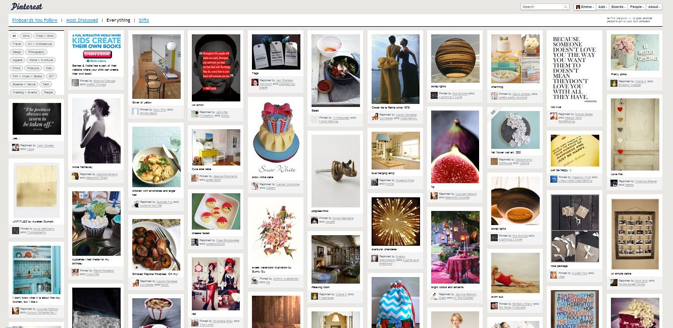Pinterest page
